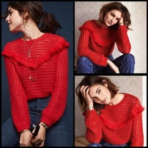 Sezane Gaston knit fringe sweater size XS